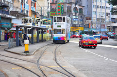 Happy valley tram terminus, hong kong Royalty Free Stock Photo
