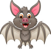 Happy Vampire Bat Cartoon Character Flying Stock Photo