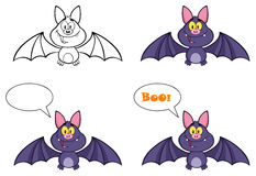 Happy Vampire Bat Collection Royalty Free Stock Photography