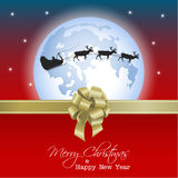 Happy Vector Christmas background Stock Images