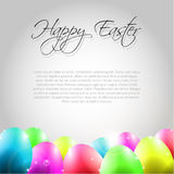 Happy Vector Easter  Background with Colorful Eggs. And place for your text Stock Photos