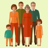 Happy vector family portrait, Royalty Free Stock Photography
