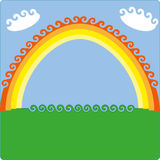Happy vector rainbow Royalty Free Stock Images
