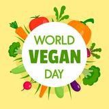 Happy vegan day concept background, flat style. Happy vegan day concept background. Flat illustration of happy vegan day vector concept background for web design vector illustration