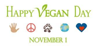 Happy Vegan Day, November 1. World vegan day celebrating on nevember 1 Royalty Free Stock Photo