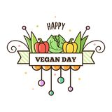 Happy Vegan Day. Vector illustration. Stock Image