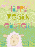 Happy vegan Easter. Coloured card for an happy vegan Easter Stock Image