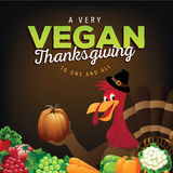 Happy Vegan Thanksgiving greeting card design Royalty Free Stock Photo