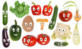 Happy vegetable smileys Stock Photography