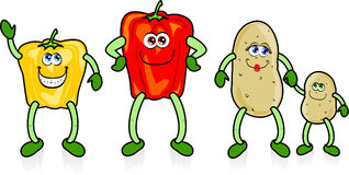 Happy vegetables royalty free stock image