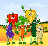 Happy vegetables royalty free stock photos