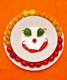 Happy vegetables Stock Photo