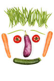 Happy vegetables face Royalty Free Stock Photo