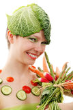 Happy vegetarian Stock Photography