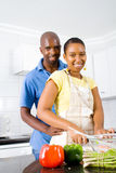 Happy vegetarian couple Royalty Free Stock Photos
