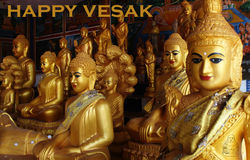 Happy vesak day Royalty Free Stock Images