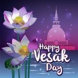 Happy Vesak Day royalty free illustration