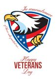 Happy Veterans Day American Eagle Greeting Card vector illustration