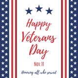 Happy Veterans Day background. Royalty Free Stock Images