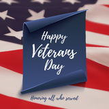 Happy Veterans Day background template. Stock Photo