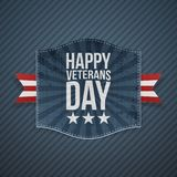 Happy Veterans Day blue striped Background. Happy Veterans Day greeting blue striped Background. Vector Illustration Stock Photos
