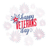Happy Veterans Day with firework Royalty Free Stock Image