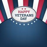 Happy veterans day horizon background. Happy veterans day horizon background, vector illustion flat design style Stock Photos