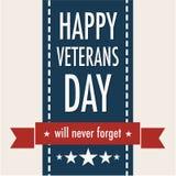Happy Veterans Day. November 11 Stock Photography