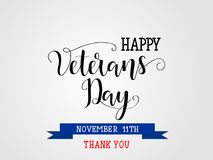 Happy Veterans Day. November 11th, United state of America, Royalty Free Stock Photos