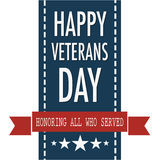 Happy veterans day quote for the Vet Day in USA Royalty Free Stock Images