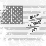 Happy Veterans Day Text on US national Flag. Banner. Vector Illustration Royalty Free Stock Photos