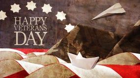 Happy Veterans Day. Usa Flag Royalty Free Stock Photos
