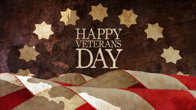 Happy Veterans Day. Usa Flags. Happy Veterans Day. Usa Flags and Chart Royalty Free Stock Photos