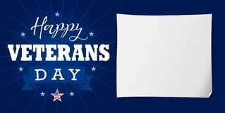 Happy Veterans Day USA lettering banner Stock Photos
