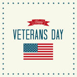Happy Veterans Day Stock Photography