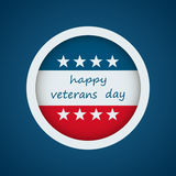 Happy veterans day. Vector illustration in flat style Stock Photography