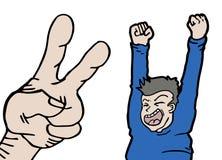 Happy victory Stock Photo