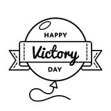 Happy Victory day greeting emblem Royalty Free Stock Photos