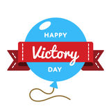 Happy Victory day greeting emblem Stock Images