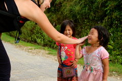 Happy Vietnamese children playing Stock Photography