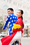 Happy Vietnamese couple Stock Images