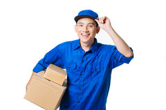 Happy Vietnamese courier Stock Photos