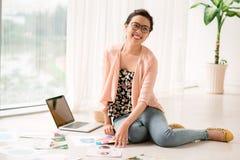 Happy Vietnamese designer Stock Images