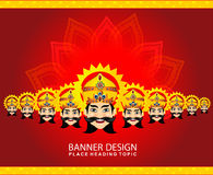 Happy vijay dashmi background with the face of ravan Royalty Free Stock Photography