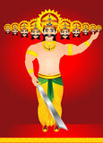 Happy vijay dashmi background with king Ravan Royalty Free Stock Photo