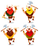 Happy viking warriors dancing Royalty Free Stock Images