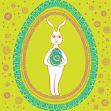 Happy Vintage Easter rabbit. Made Stock Photography