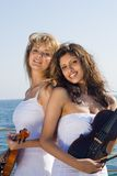 Happy Violin Player Royalty Free Stock Images