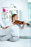 Happy violinist Stock Photo