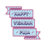 Happy Visakah Puja day greeting emblem Royalty Free Stock Photography